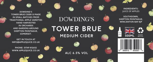Tower Brue Medium Cider Label